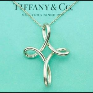 Tiffany & Co. Sterling Infinity Cross Necklace